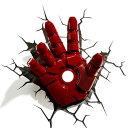 Iron Man 3 3D Deco Light Hand アイアンマン3 3Dデコライト ハンド 手 ひび割れステッカー ウォールライト LED 照明 壁ライト 立体 ア…