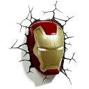 Iron Man 3 Mask 3D Deco Light アイアンマン3 3Dデコライト マスク ひび割れステッカー ウォールライト LED 照明 壁ライト 立体 アメ…