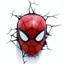 Spider Man Mask 3D Deco Light スパイダーマン 3Dデコライト マスク ひび割れステッカー ウォールライト LED 照明 壁ライト 立体 アメ…