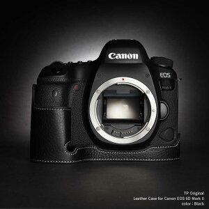 TP Original Leather Camera Body Case for Canon EOS 6D Mark II Black ブラック キャノン キヤノン 本革 カメラケース レザーケース おしゃれ デジタル 一眼レフカメラ ケース 速写ケース EZ Series 底面開閉 バッ