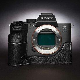 ご予約受付中 TP Original SONY α7S III 専用 レザー カメラケース Black ブラック おしゃれ 速写ケース ILCE-7SM3 A7S3 TB06A7S3-BK