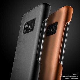 Galaxy S8 レザーケース MUJJO Leather Case for Galaxy S8 2colors Black Tan ブラック タン 高品質 高級感溢れる レザー ケース 本革 au docomo ドコモ ギャラクシー おしゃれ かっこいい 背面カバー シンプル 並行輸入品