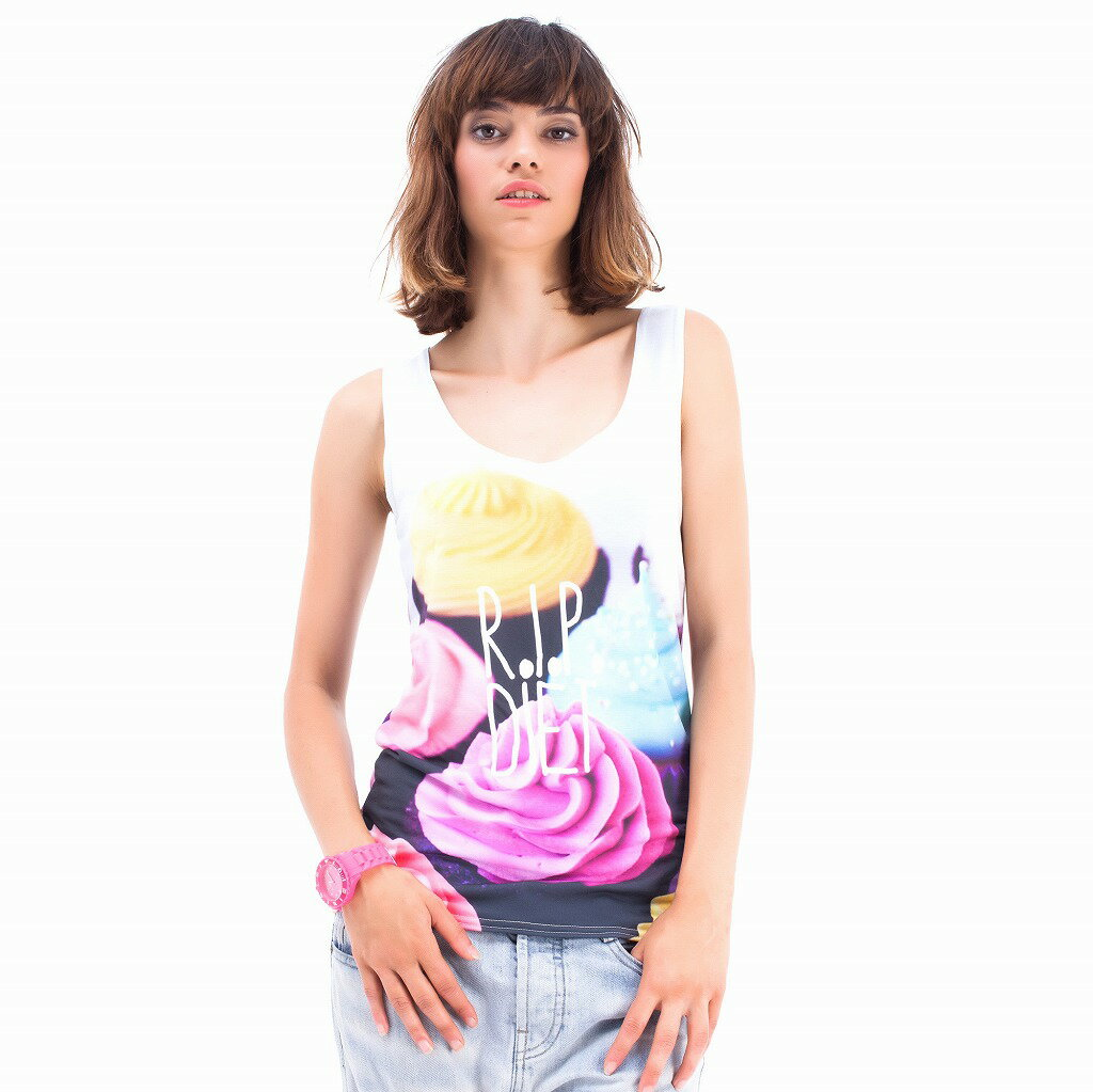 Mr GUGU & Miss GO R.I.P. Diet Tank Top 【ゆうパケット対応可能】
