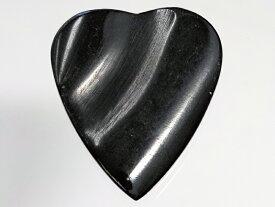 牛の角で作られた天然素材の ハート ピック 3.5mm 右利き用 / Animals Pedal Wild Picks (CHR-HP-DD-BK) Cow Horn Heart Pick Double Dent Black 【ゆうパケット対応可能】