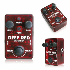 SKS Audio Musiwewe Deep Red Distortion トゥルーバイパス 手のひらサイズ お手頃 ディストーション ミニペダル