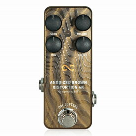 One Control ANODIZED BROWN DISTORTION 4K / ディストーション ギター エフェクター ミニペダル