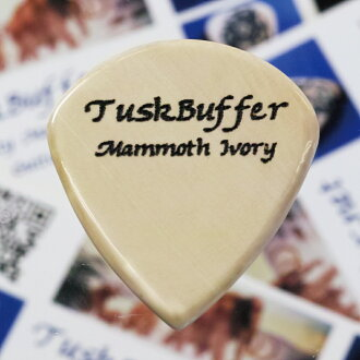 1张TuskBuffer Guitar Picks Mammoth Ivory Guitar Pick Jazz III XL 1.8mm