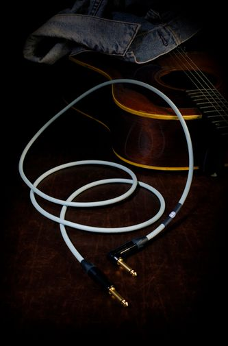 KAMINARI Guitars Acoustic Cable 3m S/S  Light Blue