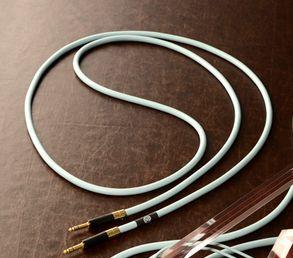 KAMINARI Guitars STEREO Acoustic Cable(I) 3m S/S  Light Blue K-SAC3 SS-l