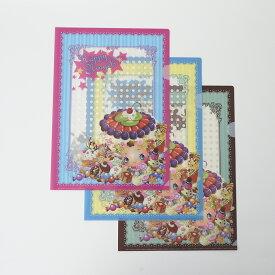 HappyNingels クリアファイル3種類セット(ピンク・ブルー・ブラウン)