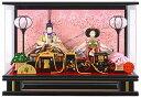 限定品 雛人形 特選 コンパクト ひな人形 雛 ケース飾り 親王飾り 芥子二人 衝立ケース アクリルケース 【2019年度新…