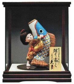 五月人形 久月 ケース飾り 木目込人形飾り 浮世人形 杉田明十志原作 鯉より高く No.300ケース入 【2021年度新作】 h035-k-s-6-300 D-75