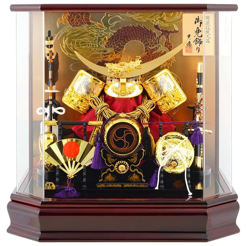五月人形 吉徳 兜ケース飾り 兜飾り 特選伝統工芸 アクリルケース 【2019年度新作】 h285-yscp-537227