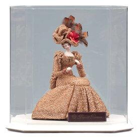 西洋人形 フランス人形 仏蘭西人形 ケース入り人形 寿喜代作 ビスクロマン ゴールド アクリルケース付 【2020年度新作】 sk-brk36 こどもの日