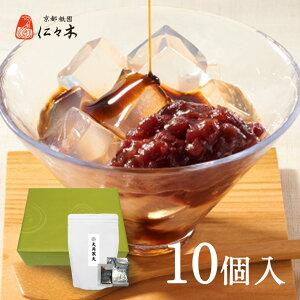 黒糖蜜寒天あずき お徳用10個入り 大ぶり寒天 黒糖蜜と粒餡をトッピング