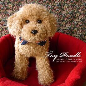 無料ラッピング付き【実物大 トイプードル33cm(アプリコット) ぬいぐるみ】本物 そっくり リアル ペット メモリアル 犬 いぬ イヌ