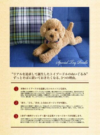 【トイプードルアプリコット】(ふわモコ生地タイプ)【N-NQ-D】【犬のぬいぐるみ】【無料ラッピング&カード】