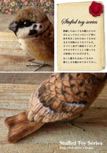 鳥ぬいぐるみリアル