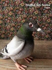 簡易ラッピングでお届け【ハンサ(HANSA) ハト29 ぬいぐるみ】本物 そっくり リアル ペット メモリアル 鳥 インコ オウム