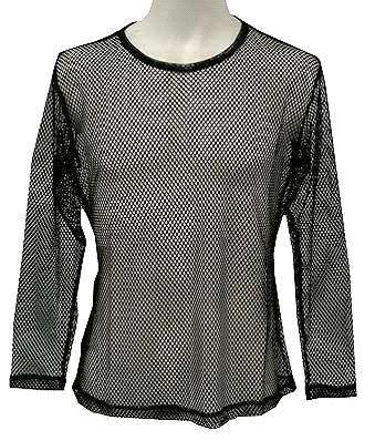 長袖メッシュTシャツ(黒)1