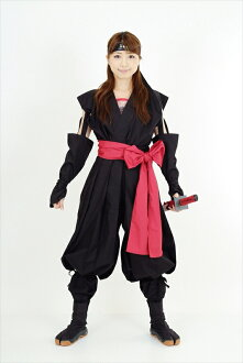 Go-no-one (female Ninja and kunoichi) costume (black and red) kunoichi wear ( woman ninja )