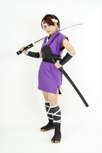 くノ一(くの一・女忍者)衣装・ミニスカ(紫)kunoichiwear(womanninja)