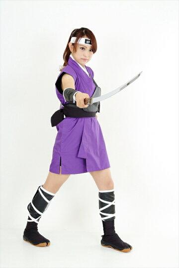 くノ一(くの一・女忍者)衣装・ミニスカ(紫)2kunoichiwear(womanninja)