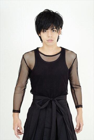 長袖メッシュTシャツ(黒)2