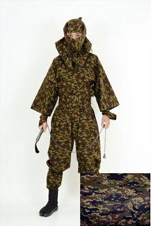 成人忍者服装 IGA 版本设备齐全的伪装设计忍者磨损