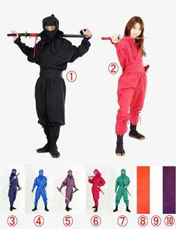 成人忍者服装 IGA 版本齐全的忍者磨损