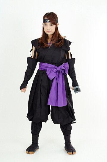 くノ一(くの一・女忍者)装束(黒・紫)1