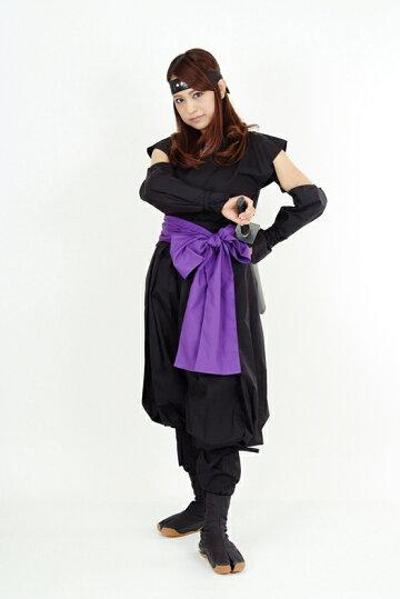 くノ一(くの一・女忍者)装束(黒・紫)3