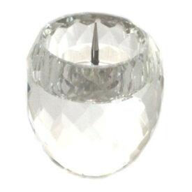 クリスタル仏具 火立て ガラス製 ローソク立て ダルマ型