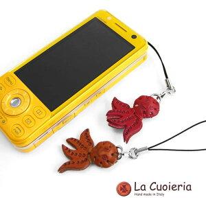 直輸入 イタリア インポート ラ クオイエリア La Cuoieria レザーストラップ タコ レディース メンズ スマホ 携帯 CE814