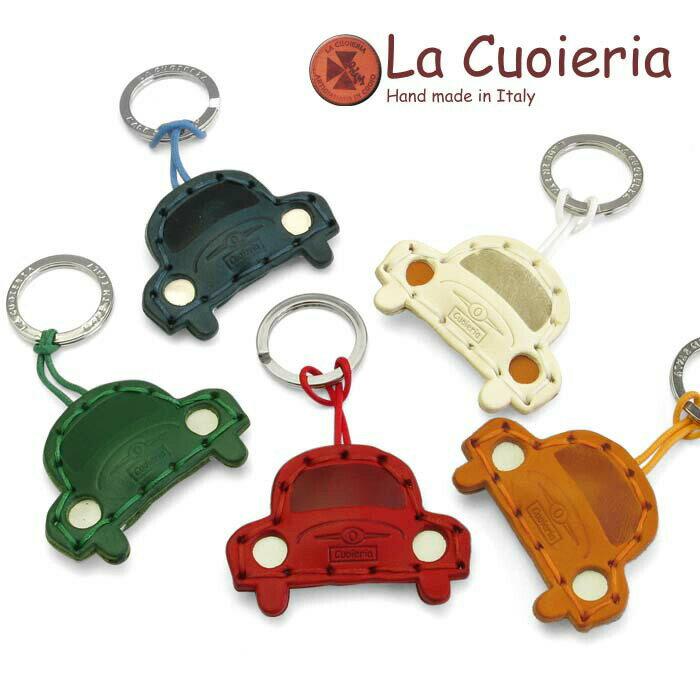 ラ クオイエリア La Cuoieria レザーキーホルダー FIAT 500 フィアット チンクエチェント レディース メンズ P349