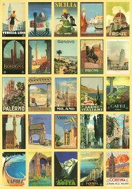 直輸入 イタリア製 ポスター おしゃれ ヴィンテージ レトロ 大きい ISTITUTO FOTOCROMO ITALIANO / I.F.I ポスター/ラッピングペーパー 50×70 CARTOLINE D'ITALIA CR007