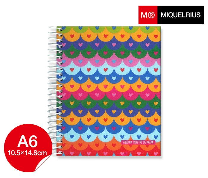 ミケルリウス アガタ MIQUELRIUS Agatha Ruiz De La Prada ノート Tiles A6 方眼 5mm