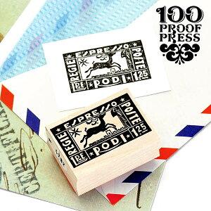 直輸入 ラバースタンプ 100プルーフプレス 100 Proof Press #4782 切手/イタリアエスプレッソ Italy Espresso Post はんこ アンティーク クラシック ヴィンテージ 封筒 メッセージカード