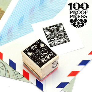 ラバースタンプ 100プルーフプレス 100 Proof Press #5585 切手/チェコスロバキア鳥 Skoslovenska Postage はんこ アンティーク クラシック レトロ ヴィンテージ 封筒 メッセージカード