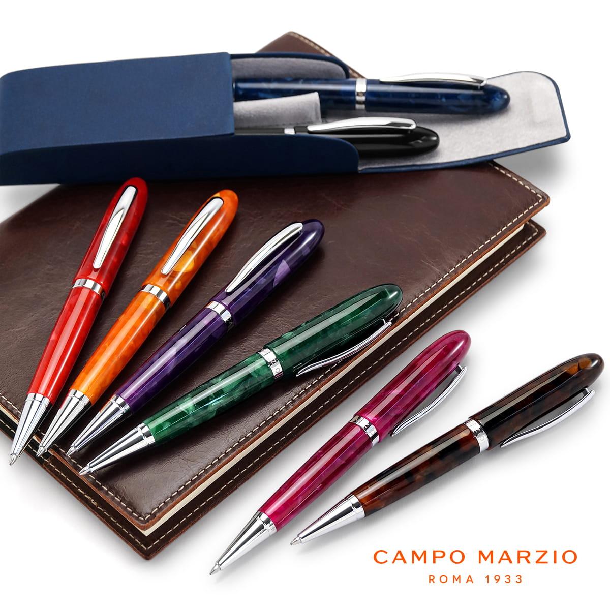 【イタリアブランド】 ボールペン 油性 セルロイド 高級 ブランド メンズ レディース カンポマルツィオ CAMPO MARZIO ACROPOLIS ボールペン ACR-BP