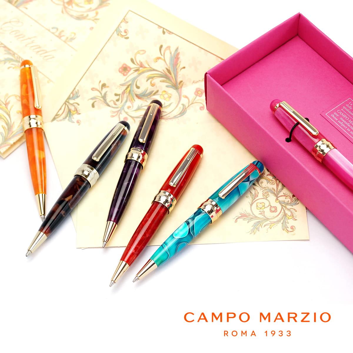 【イタリアブランド】 ボールペン 油性 セルロイド 高級 ブランド カンポマルツィオ CAMPO MARZIO LADY レディ ボールペン LADY-BP