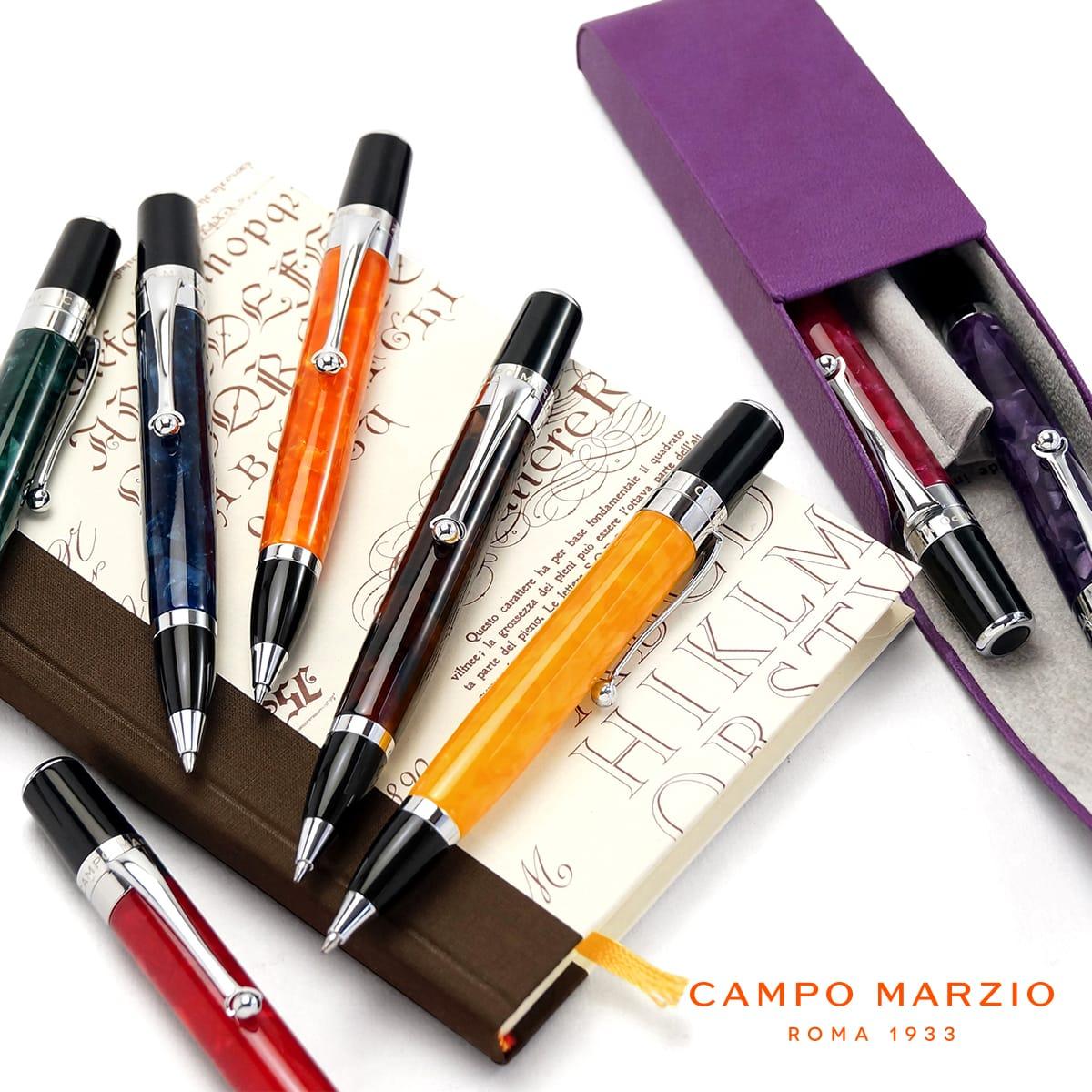 【送料無料】 【イタリアブランド】 ボールペン 油性 セルロイド 高級 ブランド メンズ レディース カンポマルツィオ CAMPO MARZIO SIENA SIE-BP