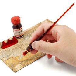 ルビナート[【RUBINATO】7616ガラスペン+ペンレスト+インクセット【メール便不可】](ガラスペン)【プレゼントギフトクリスマスお祝い記念品ペン万年筆ペンセット筆置き】【RCP】