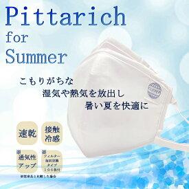 Pittarich for Summer /ピッタリッチ フォー サマー マスク(PM2.5+防菌・防ウィルス対策用)再利用可能タイプ 1個 交換フィルター100枚入り