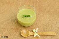 日本スープの有機野菜ポタージュの冷製ポタージュの料理例です。無添加、無脂肪の美味しいポタージュです。離乳食、介護食にもお薦めです。