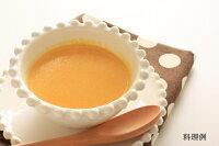 日本スープの有機野菜ポタージュのにんじんポタージュの料理例です。無添加、無脂肪の美味しいポタージュです。離乳食、介護食にもお薦めです。