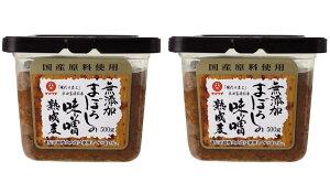 九州 熊本県 菊池 菊陽 老舗 醸造元 [山内本店] 味噌 無添加 まぼろしの味噌 熟成麦 500g×2個セット