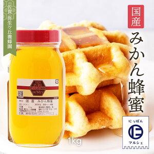 [弥生ヶ丘養蜂園] 蜂蜜 国産 みかん蜂蜜 1kg/ハチミツ/国産/蜂蜜/はちみつ/みかん