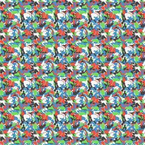 超撥水風呂敷ながれ ランタナ AKAYA'S ANIMALS(タフタ125cm) 朝倉染布 製造直販 日本製 防災 アウトドア バケツ代わり 水を運べる シャワー代わり 大判
