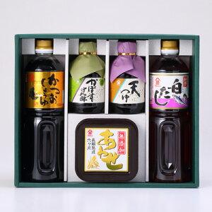 富士甚の人気商品(かつおしょうゆ、白だし、かぼすぽん酢、天つゆなど)ギフトセット豊の香雅(TK-385)